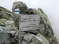 vrcholova pamatna tabula narodneho vystupu na krivan